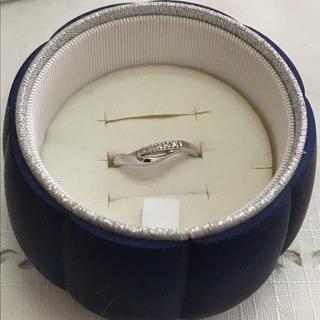 ヨンドシー(4℃)の4℃ K10リング ホワイトゴールド ケース付き(リング(指輪))