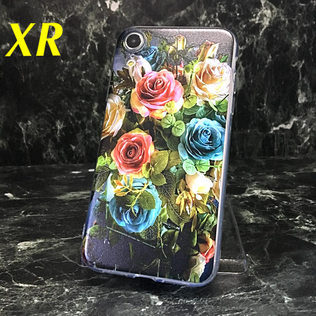 iphone 6 7 8 ケース | アイフォンXR iPhoneXRソフトケース☆カラフル☆薔薇☆ばら☆バラ☆送料込の通販 by ロゴ's shop|ラクマ