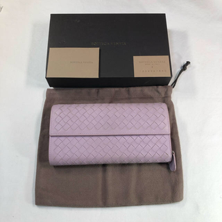 ボッテガヴェネタ(Bottega Veneta)のボッテガヴェネタ BOTTEGA VENETA 長財布 色 ラベンダー 薄紫色(財布)