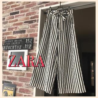 ZARA - ZARA♥️ ストライプ ワイドパンツ