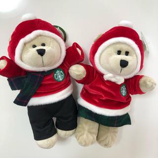 スターバックスコーヒー(Starbucks Coffee)のタグ付き♡スターバックス♡ベアリスタ♡クリスマス限定セット(ぬいぐるみ)