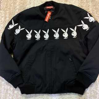 シュプリーム(Supreme)のSupreme Playboy Crew Jacket 黒L(ブルゾン)