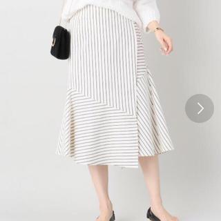 ノーブル(Noble)のノーブルストライプ巻きスカート(ひざ丈スカート)