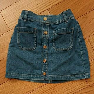 ジーユー(GU)の110cmデニムスカート(スカート)