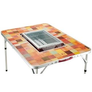 Coleman - コールマンナチュラルモザイクBBQテーブル110プラス&テーブルクロスセット