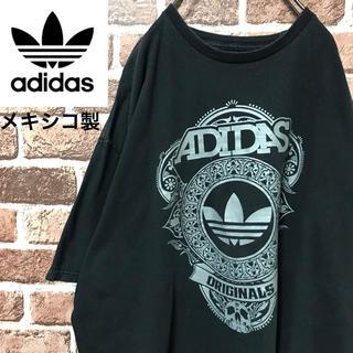 アディダス(adidas)の【激レア】アディダスオリジナルス メキシコ製ビッグロゴロック調スカル半袖Tシャツ(Tシャツ/カットソー(半袖/袖なし))