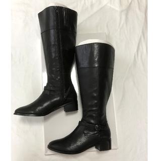 インディヴィ(INDIVI)のINDIVI ブーツ 黒 25.5㎝(ブーツ)