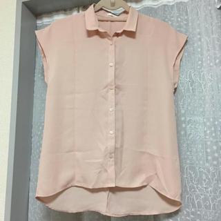 ジーユー(GU)のGU ブラウス ピンク(シャツ/ブラウス(半袖/袖なし))