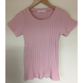 スライ(SLY)のTシャツ カットソー SLY スライ スタンダード 半袖 ベビーピンク トップス(Tシャツ(半袖/袖なし))