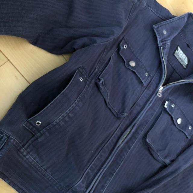 寅壱(トライチ)の寅壱 デニム ジャケット作業着 サイズM メンズのジャケット/アウター(Gジャン/デニムジャケット)の商品写真