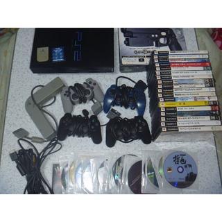 プレイステーション2(PlayStation2)のPS2本体一式ガンコン2・マルチタップ ソフト46本 名作多数まとめソニー(家庭用ゲーム本体)