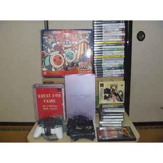 プレイステーション2(PlayStation2)のソニーPS2サクラカラー タタコン太鼓の達人 他大量まとめセット 名作多数(家庭用ゲーム本体)