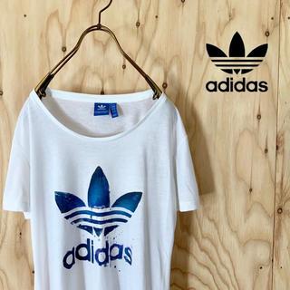 adidas - 【美品】adidas originals ビッグロゴ tシャツ 変形トレフォイル