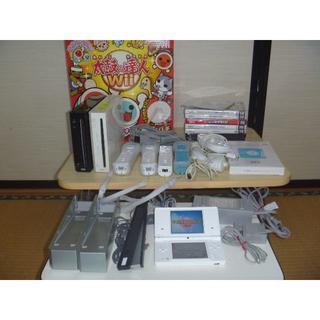 Wii - 任天堂Wii太鼓の達人お買い得セット 内臓ソフト有り DSi付き ぷよぷよ