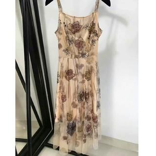 e910c28f8aa0d クリスチャンディオール(Christian Dior)のDIORディオール ドレス 半袖 ガーターのスカート ひざ丈