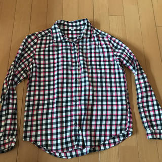 ユニクロ(UNIQLO)のユニクロ 150センチ チェックシャツ(ブラウス)