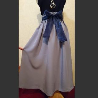 ジャスミン風♥️(о´∀`о)♪着物リメイク ギャザースカート(ロングスカート)