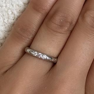 ミキモト(MIKIMOTO)のミキモト ダイヤ プラチナリング 8号(リング(指輪))