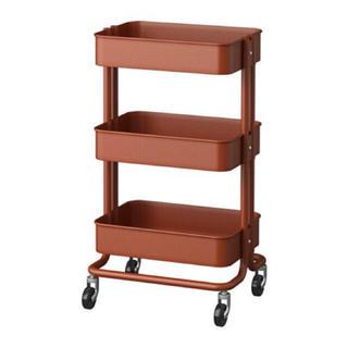 イケア(IKEA)のIKEA ロースコグ ワゴン ブラウン(キッチン収納)
