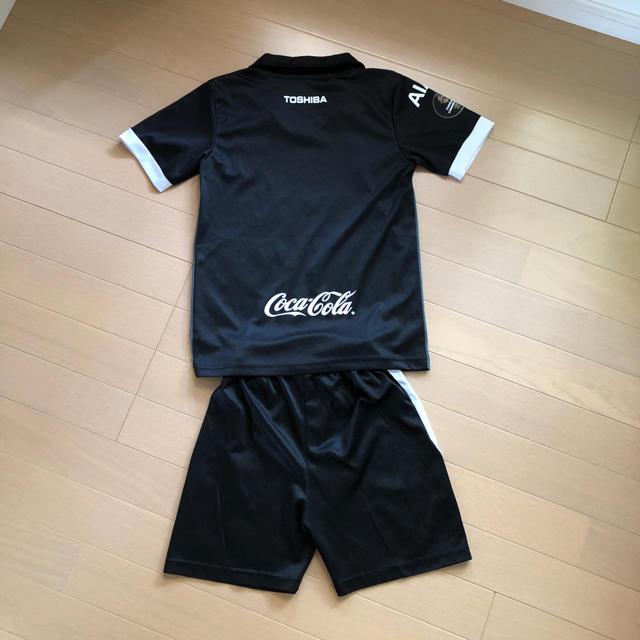 adidas(アディダス)の120 子供服 サッカー 半袖 上下セット 男の子 女の子 tシャツ キッズ/ベビー/マタニティのキッズ服 男の子用(90cm~)(Tシャツ/カットソー)の商品写真