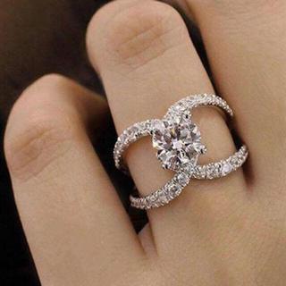 AAAランク ダイヤモンドcz 16号 リング 指輪(リング(指輪))