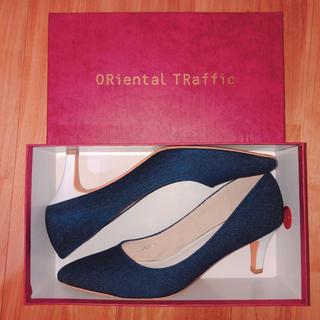 オリエンタルトラフィック(ORiental TRaffic)のoriental traffic ネイビー ヒール パンプス(ハイヒール/パンプス)