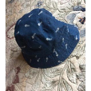 ザラ(ZARA)のZARA デニム魚柄帽子 45cm(帽子)