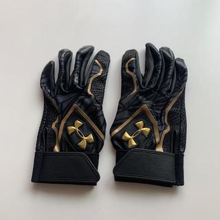UNDER ARMOUR - アンダーアーマー バッティング 手袋 左右ペア ブラック ゴールド野球