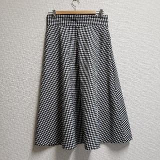 ジーユー(GU)の【新品未使用】ギンガムチェックスカート(ロングスカート)