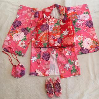 三歳 女の子 七五三 被布 着物セット