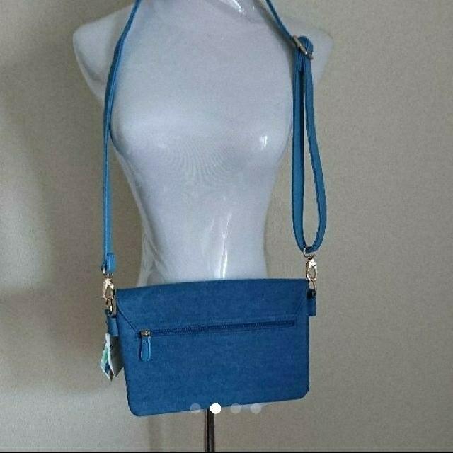 しまむら(シマムラ)の新品★ショルダーバッグ/クラッチバッグ/デニム/青 レディースのバッグ(ショルダーバッグ)の商品写真