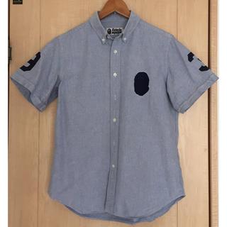 アベイシングエイプ(A BATHING APE)のアベイシングエイプ ape 半袖ボタンダウン シャツ(Tシャツ/カットソー(半袖/袖なし))