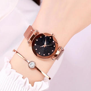 レディース 磁気星空 クオーツ 腕時計