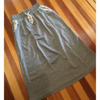 ジーユー(GU)の薄手 スウェット ロングスカート(ロングスカート)