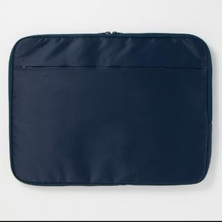 ムジルシリョウヒン(MUJI (無印良品))の無印良品 ナイロンケース A4 ネイビー(ビジネスバッグ)
