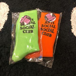 アンチ(ANTI)のanti social social club ソックス 2点セット assc(ソックス)