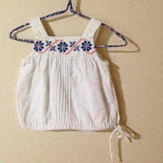 セフォラ(Sephora)のセラフ 刺繍肩かけチュニック(シャツ/カットソー)