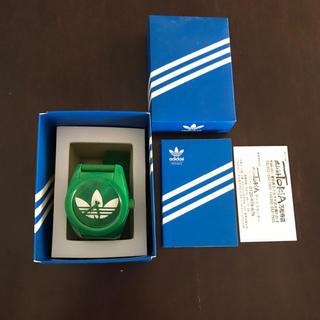 アディダス(adidas)のアディダスadidas 時計 緑(腕時計(アナログ))