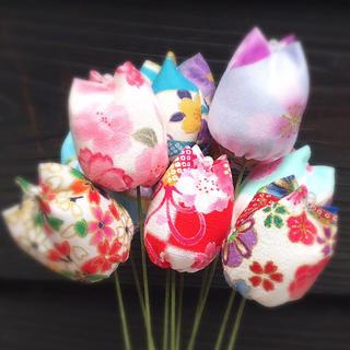 和柄チューリップの花束✿10本セット【インテリア雑貨・贈り物に♪】