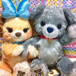 Disney - ユニベア ベラとノッテ セット(キラキラ)     【わんわん物語】リメイク