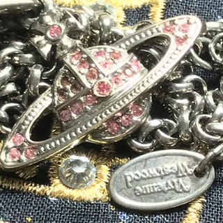 ヴィヴィアンウエストウッド(Vivienne Westwood)のヴィヴィアン ミニバス ピンク オーブ ネックレス(ネックレス)