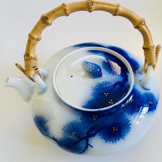 香蘭社 - オールド香蘭社 染め金彩 「松の絵 」急須