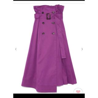 フレイアイディー(FRAY I.D)のフレイアイディー   パープル トレンチ スカート(ロングスカート)