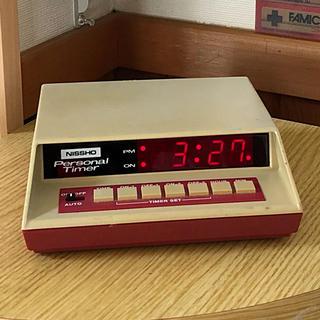 NISSHO パーソナルタイマー  ファミコンカラー レトロデジタル時計