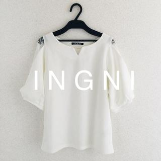 INGNI - 2019最新★ I N G N Iイング★ピン付袖割れレーストップス