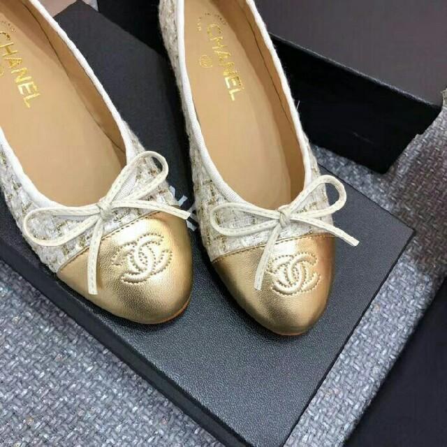 035d17422468 CHANEL(シャネル)の新品CHANELシャネル バレエシューズ フラットシューズ 23.0 レディースの靴