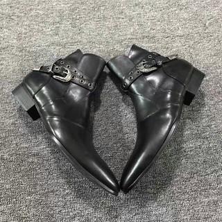 Saint Laurent - 新品 本物正規品 サンローラン メンズ レザー ジョッパー ブーツ 靴 黒