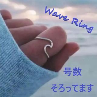 ウェーブリング ring 指輪 波 親指 人差し指 シルバー(リング(指輪))