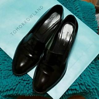 トゥモローランド(TOMORROWLAND)のTOMORROWLAND ローファー(黒)(ローファー/革靴)
