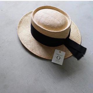 ドゥロワー(Drawer)のchapeaud'Oリボン カンカン帽 drawer(ハット)